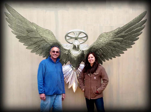 Custom Dove Wall Sculpture by Gary Caldwell