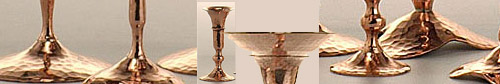 Hessel Studios Copper Candlesticks