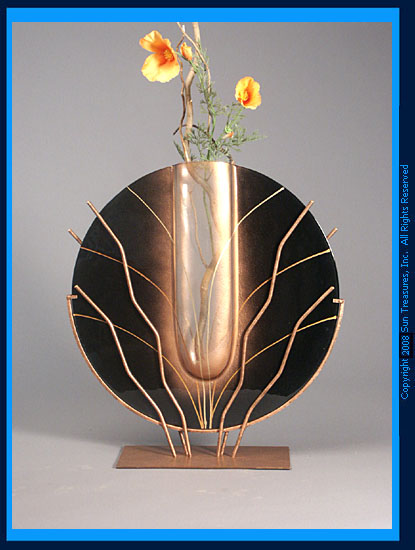 Mark Hines Designs Br26 Abstract Vase Art Glass