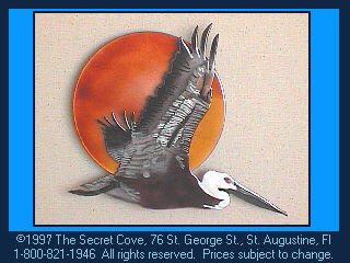 Pelican with Sun W401B Wall Sculpture by Bovano of Cheshire