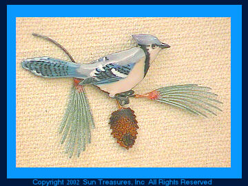 Blue Jay W4124 Sculpture from Bovano of Chesire