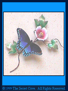Red Spotted Purple Butterfly B82 Metal wall sculpture by Bovano.