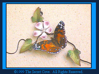 American Painted Lady Butterfly B83 Metal wall sculpture by Bovano.
