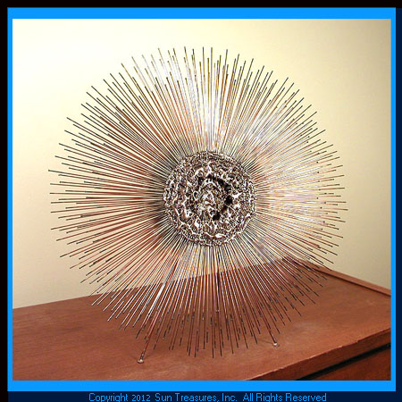 Sunburst. Double Layer. Small. 4sun. Metal Wall Art by Bovano