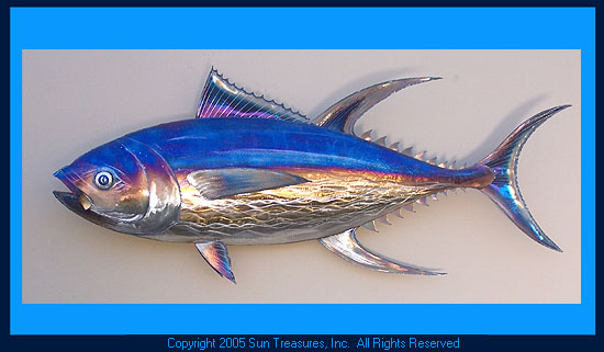 Gary Caldwell Yellowfin Tuna Metal Wall Art Sculpture