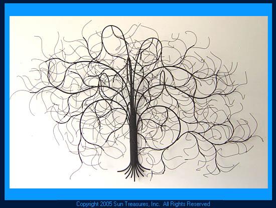 December Tree   Metal Wall Art Sculpture   Gurtan Designs