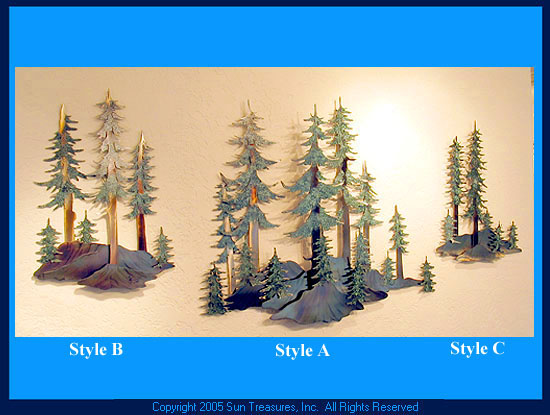 Winter Woods   Ken Scott Metal Wall Sculpture