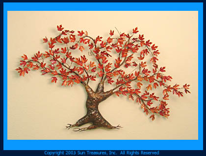 Custom Maple Tree | Metal Wall Sculpture by Max Howard